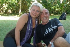 Friends Monika and Alan at Bali Spirit