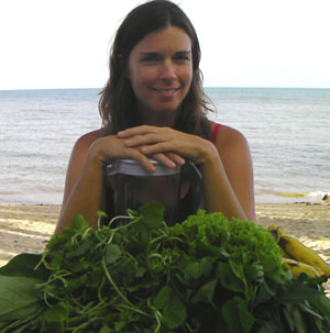 Jennifer With Greens