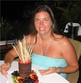 Here I am, age 34 ballooning out to cooked foods (Lizard Island, Australia 2005)