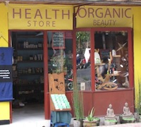 Health Shop across from Kafe, Ubud