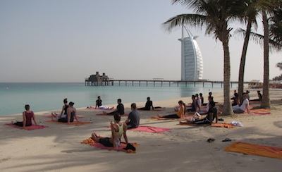 Beach Yoga in Dubai