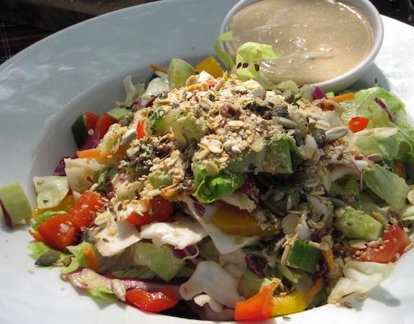 Organic Salad with Tahina at Barzilay