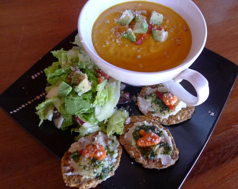Raw Carrot, Pumpkin & Avocado Soup