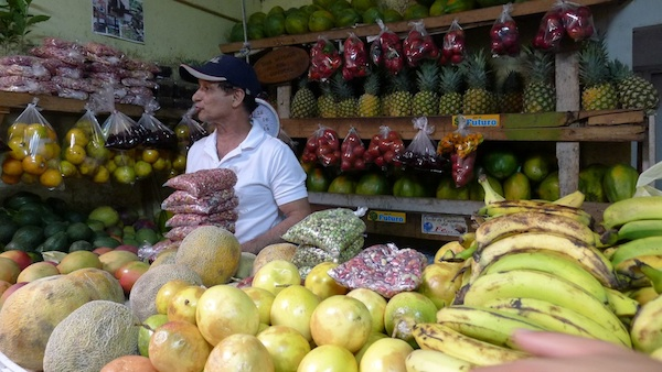 The offending fruit and veggies in Boquete, Panama