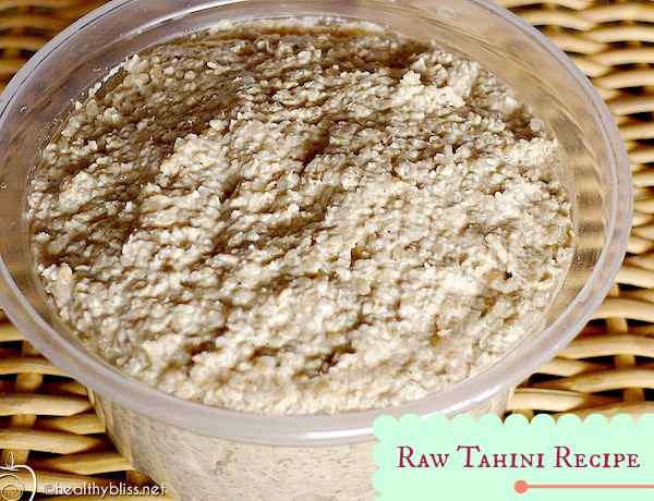 If you don't have access to buy Raw Tahini, it's easy to Make at Home!