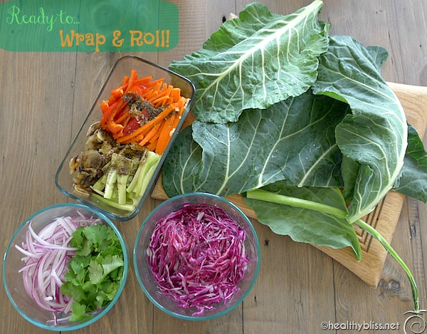 Be creative with your wraps! Use different ingredients and dressings every time!