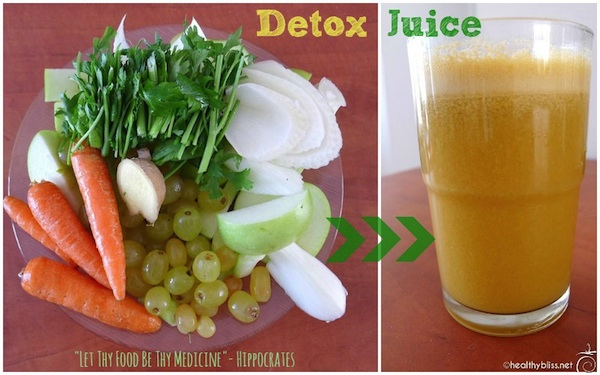 Place All Ingredients in a Juicer for a Healthy Detox Drink!