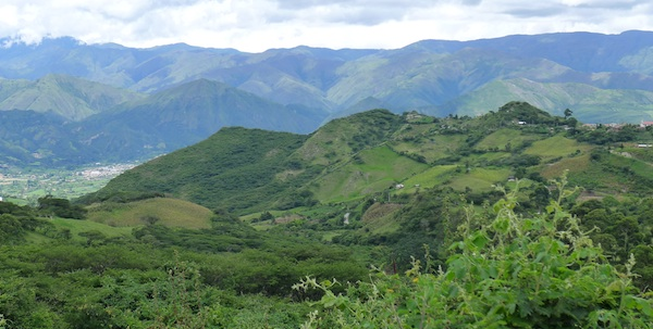 Beautiful mountains and vistas in Vilcabamba, Ecuador