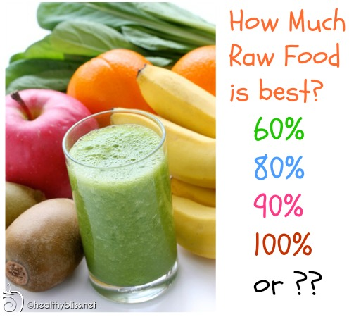 How much raw food do you need to eat for success?