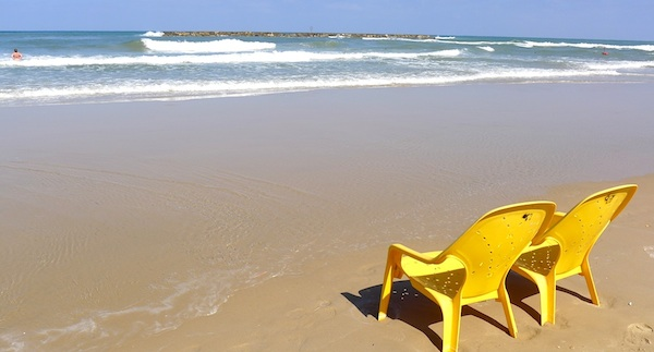 The beaches of Tel Aviv are clean and quiet, especially during the week!