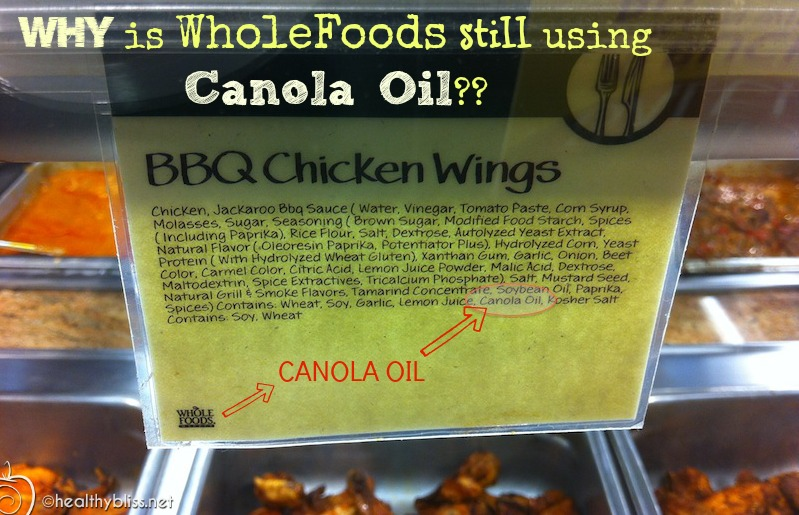 "While there are many other ""bad"" ingredients in this food like yeast extract, the CANOLA OIL is obvious."