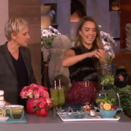 Ellen and Jessica Alba