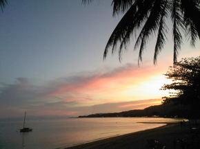 Sunset in Lamai, pre-fast bliss!