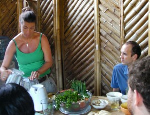 Jennifer teaching at the Green School, Ubud Bali