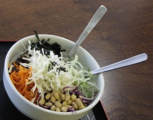The 5-Energy Salad with Miso Dressing