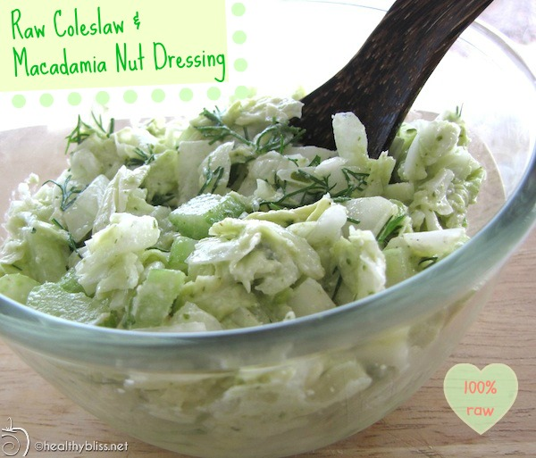 Recipe for raw coleslaw salad with macadamia nut dressing detox raw vegan forumfinder Choice Image