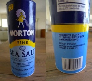Sea Salt E535 Yellow Prussiate Of Soda Mortons Sea Salt Food