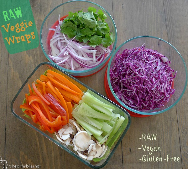 Recipe raw vegan veggies wraps all raw gluten free nutrient julienne forumfinder Gallery