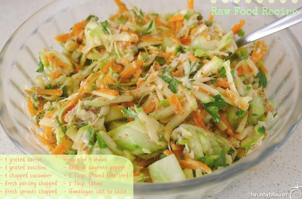 Fast and easy raw food salad recipe middle eastern salad detox how to make a delicious raw food lunch in just minutes forumfinder Images