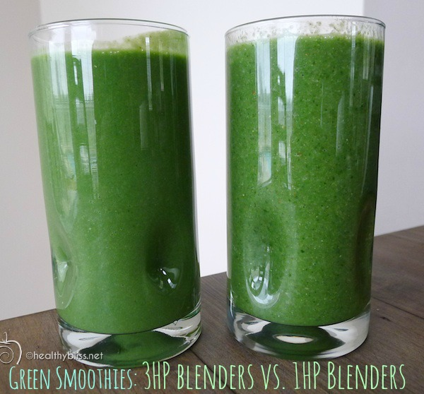 Smoothie on the left: Made with 3HP. Smoothie on the right: 1HP. See the difference?