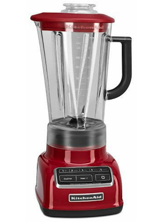 Kitchenaid Diamond Vortex blender in empire red color