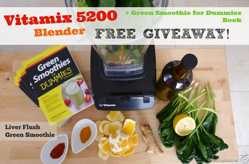 Free vitamix giveaway 44900 value liver flush green smoothie the winner will receive a free vitamix 5200 blender and my new green smoothies for dummies book forumfinder Choice Image